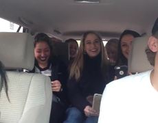#VIRAL - Uber driver raps for car full of babes