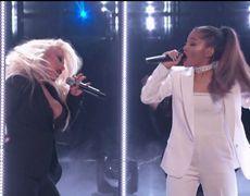 The Voice USA 2016 Finale - Ariana Grande - Into You/Dangerous Woman ft Christina Aguilera (Live)