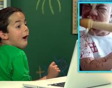 CORN DRILL CHALLENGE FAIL (KIDS REACT)