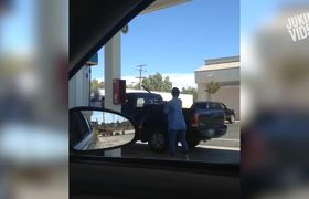 Woman Smashes Truck With Pipe | Gas Station Meltdown