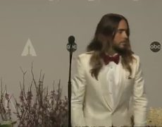 Oscars 2014 Winners Room Jared Leto gives away Best Supporting Actor