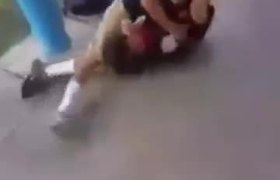 Bully Kid Gets Tap Out