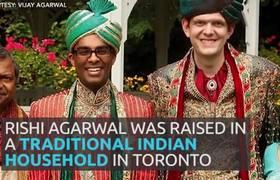 Familia hindú demuestra su amor a su hijo gay con maravillosa boda