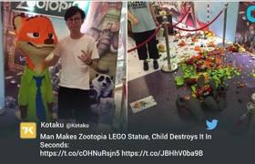 #WTF - 15,000 Zootopia Lego statue Accidentally Destroyed