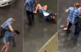 #VIDEO - Man knocked his girlfriend after violent argument