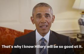President Barack Obama endorses Hillary Clinton for president