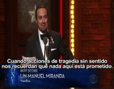 Mensaje de amor de Lin Manuel Miranda en los Premios Tony Awards 2016