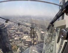 AP Reporter Rides Terrifying Glass Slide