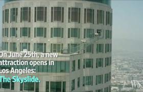 Amazing - LA Skyscraper Offers Thrill Slide in the Sky