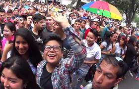 GAY march in Mexico City