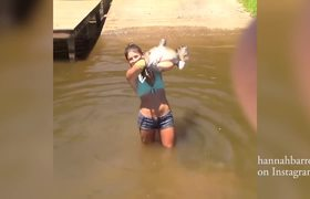 Alabama Girl Catches Giant Catfish With Bare Hands