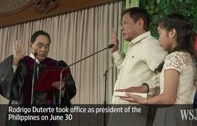 Rodrigo Duterte Sworn In as Philippine President