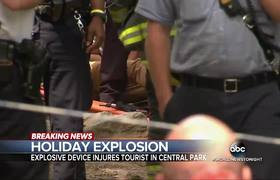 Man Severely Injured by Explosion in Central Park