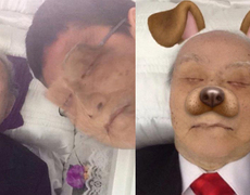 Snapchat user exchanges his face with the dead man