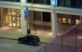 Amateur footage shows gunman involved in #Dallas shooting