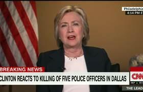 Hillary Clinton reacciona ante la muerte de 5 policias en Dallas