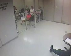 CCTV of Texas prisoners breaking out to save guard