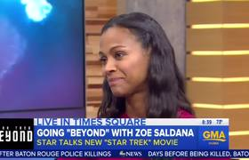 #GMA: Zoe Saldana - Talks