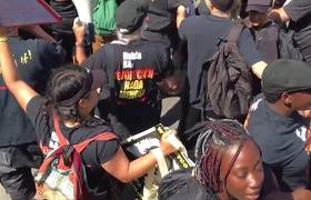 Arrestos violentos y lesiones en el RNC