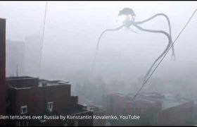 ALIEN INVASION of RUSSIAN CITY of Novosibirsk -