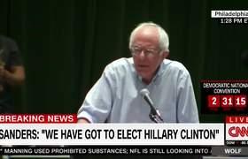 #BreakingNews: Bernie Sanders boo at Democratic National Convention