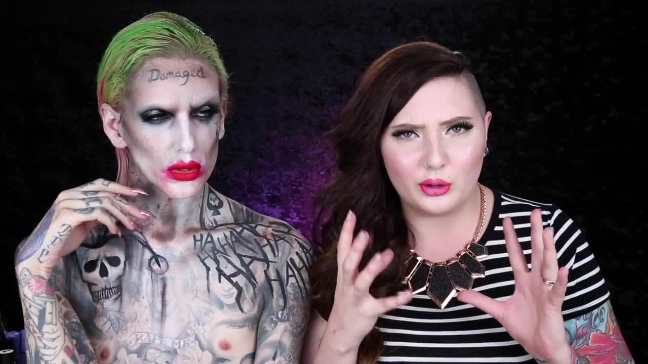 Jeffree Star | 'The Joker' SUICIDE SQUAD Makeup Tutorial feat. Jordan Hanz - Videos - Metatube