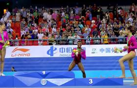 Simone Biles 'Attacked' By A Bee On The Podium