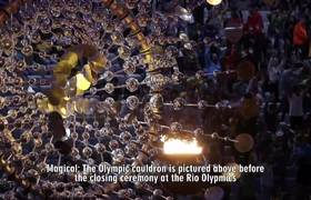 Heavy Rain The Closing Ceremony At the #Rio2016 Olympic Games