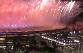 Fireworks of the Closing Ceremony of the Olympic Games 2016