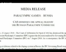 News - Russia loses appeal against Paralympics ban