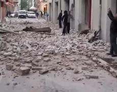 mages of damage caused by the 6.2 magnitude earthquake in Italy