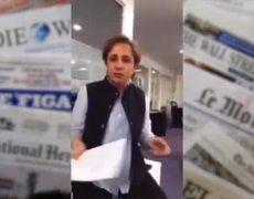 Carmen Aristegui responde al vocero de la República