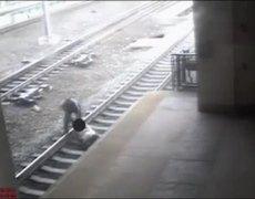 Hero NJ Transit Cop Saves Man from Tracks