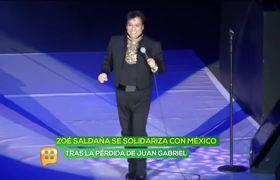 Zoe Saldaña Cries Over Juan Gabriel Death