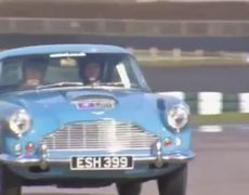 Prince Harry takes to the track at Goodwood