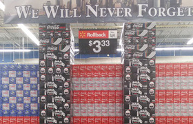 #Polemic - #Walmart Builds Tasteless 9/11 Display Out Of Coke Cans