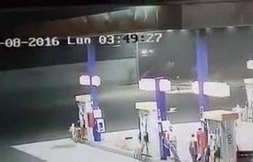 Captan extraterrestre en gasolinera de peru