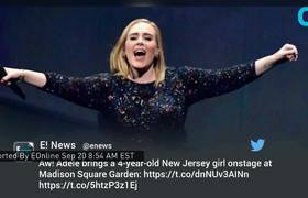 Adele Invites 4-Year-Old On Stage At NYC Concert