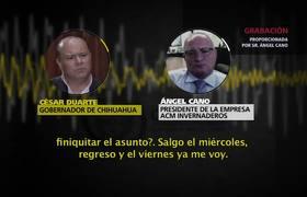 #AUDIO - César Duarte ofreció pagar una deuda personal con recursos públicos