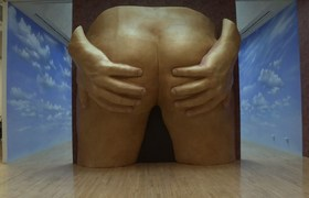 Giant bum goes on display in London