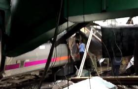 Train accident in Hoboken