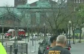 Train collides in Hoboken station in New Jersey