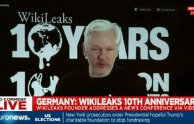 Julian Assange speaks at Wikileaks conference