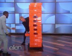 Kevin Hart and Ellen Play Jenga 1122014