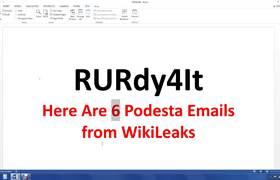 Here Are 6 Podesta Emails from WikiLeaks