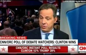 CNN/ORC Poll Of Debate Watchers: Hillary Clinton wins
