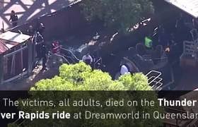 Raw - Theme park accident leaves four dead in Australia