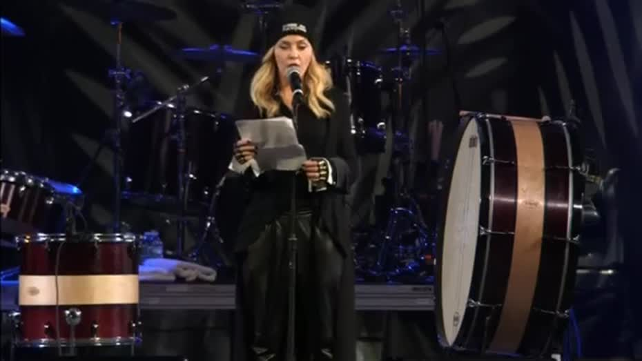Madonna on stage pussy with