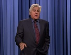 Jay Leno Tags In to Tell Tonight Show Monologue Jokes