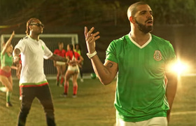 c7d1a969887 Drake wears jersey of the Mexican National Team in new video